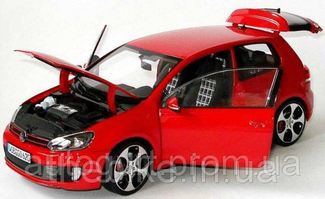 Модель автомобиля Volkswagen Golf VI GTI Red, Scale 1:18
