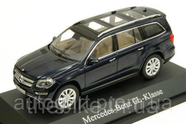 Модель автомобиля Mercedes-Benz GL-Class (X166) Offroader Blue, Scale 1:43