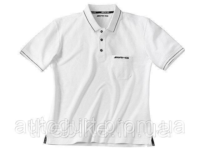 Мужская футболка-поло Mercedes-Benz AMG Polo Shirt White