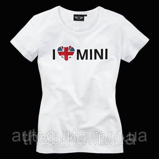 Женская футболка Mini Ladies' I Love Mini T-Shirt White
