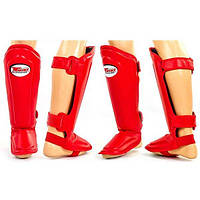 Защита для ног (голень и стопа) MMA Кожа TWINS SGL-10-BU