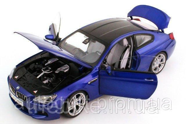 Модель автомобиля BMW M6 Coupé (F13M) Blue, Scale 1:18