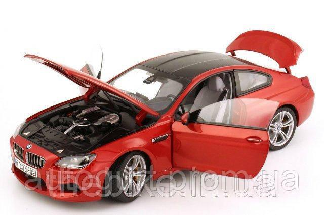 Модель автомобиля BMW M6 Coupé (F13M) Orange, Scale 1:18