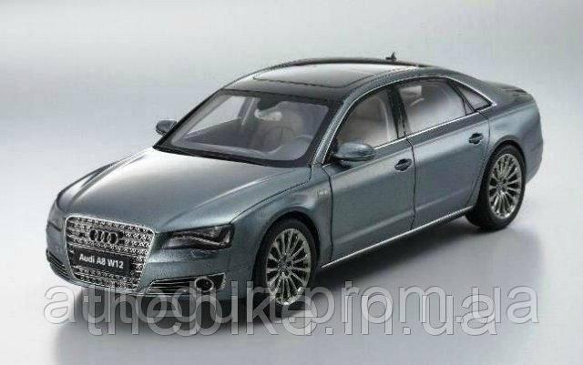 Модель автомобиля Audi A8 L W12 Grey Metallic, Scale 1:18
