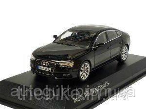 Модель автомобиля Audi A5 Sportback Phantom Black, Scale 1:43