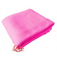 Плед флисовый  160х200 см Розовый