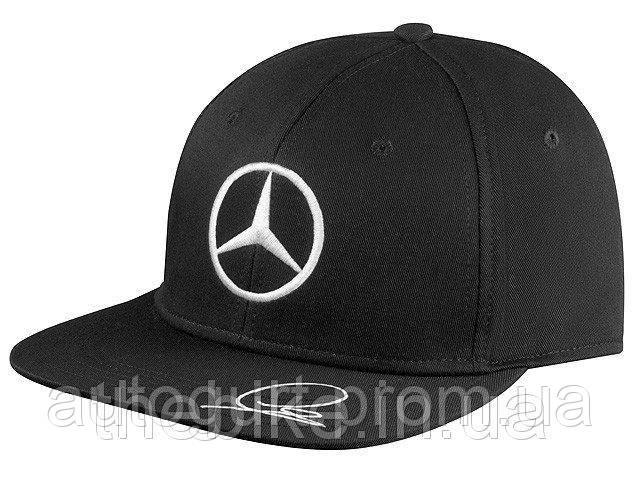 Бейсболка Mercedes-Benz F1 Cap Unisex, Hamilton Flatbrim 2015, Signature, Black