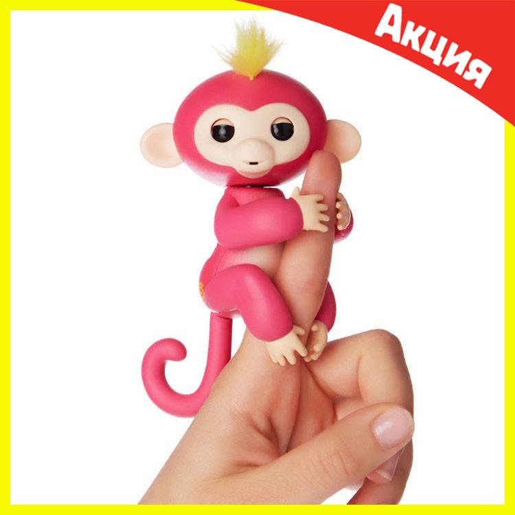 Интерактивная обезьянка Fingerlings (Розовая)