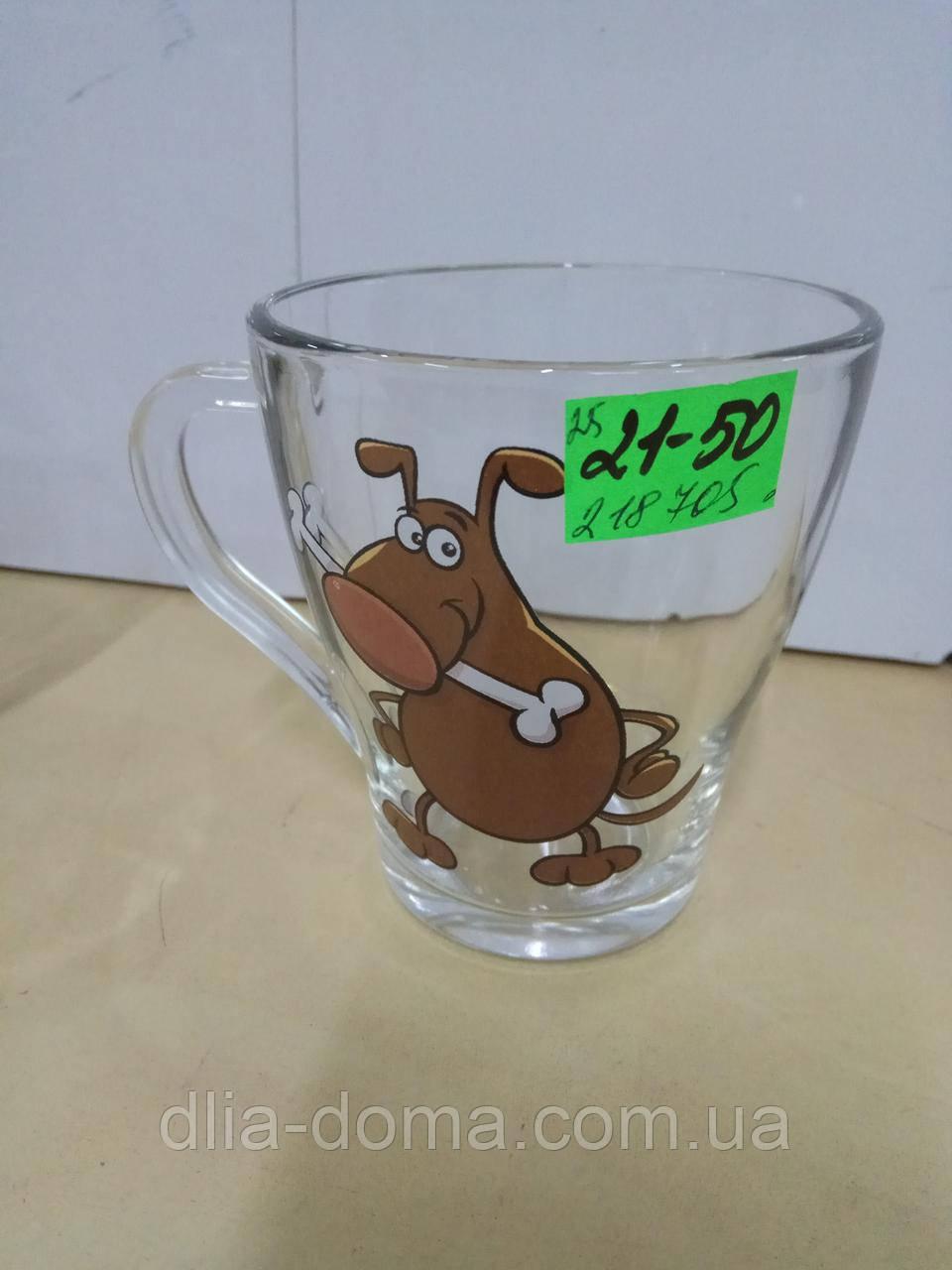 Чашка стеклянная грация символ года 250мл