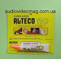 Супер-клей Alteco 110, 3 грамма моментальный, универсальный