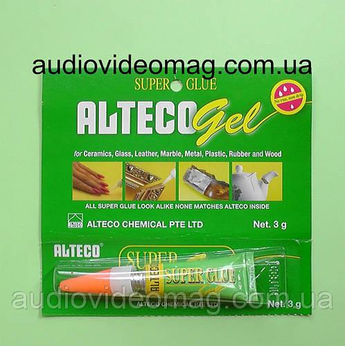 Супер-клей Alteco Гель, 3 грамма, моментальный