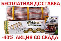 Теплый пол нагревательный двужильный кабель VOLTERM HR12 1400 9,6 м² 12,0 м² 1400 W, 120 м монтаж в плиточный клей