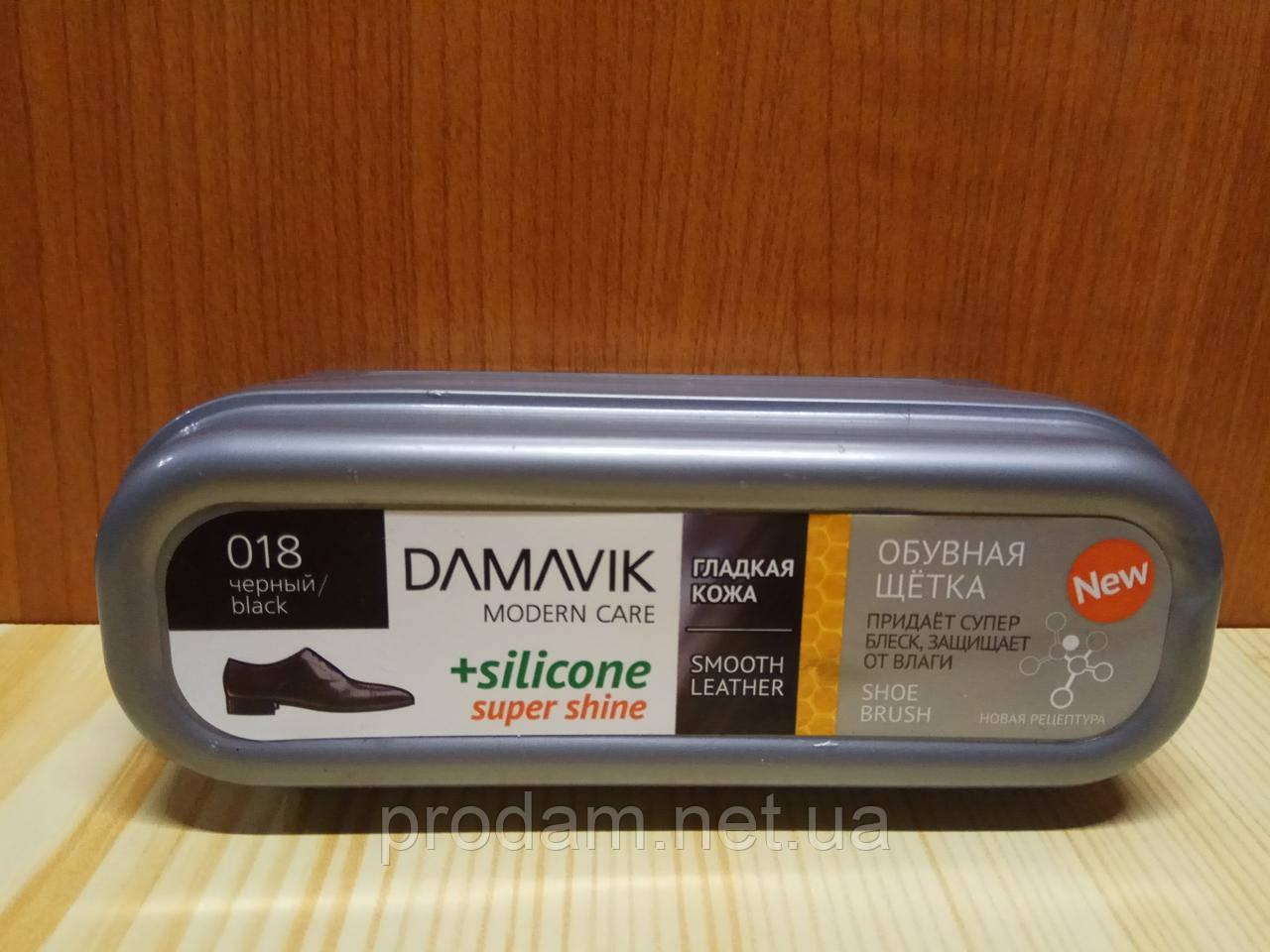 Губка для обуви DАМАVІК силикон воск чорная