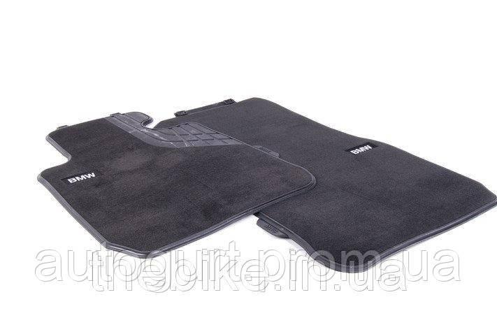 Коврики передние оригинальные для BMW 3 (F30, F31, F34, F35) велюровые (черные)