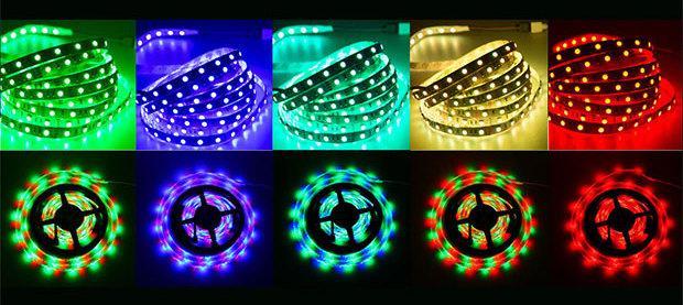 Стрічка світлодіодна 12V L=5 м (зелене світло)