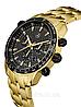 Мужские наручные часы Mercedes-Benz Men's MSP Chronograph Watch, Gold Edition, фото 2