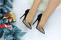 Женские туфли с напылением 3614