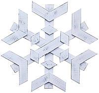 Декоративная снежинка на дверь