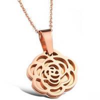 """Кулон """"Роза"""" с покрытием золота, фото 1"""