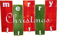 """Вешалка ДРЕВОДЕЛЯ """"Merry Christmas"""" 36х57х1,5см (080799), фото 1"""