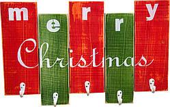 """Вешалка ДРЕВОДЕЛЯ """"Merry Christmas"""" 36х57х1,5см (080799)"""