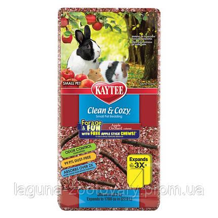 Kaytee Clean&Cozy Apple Клин&Кози ЧИСТО&УЮТНО ЯБЛОКО подстилка для грызунов, целлюлоза, с палочками для грызения в подарок, красная, фото 2