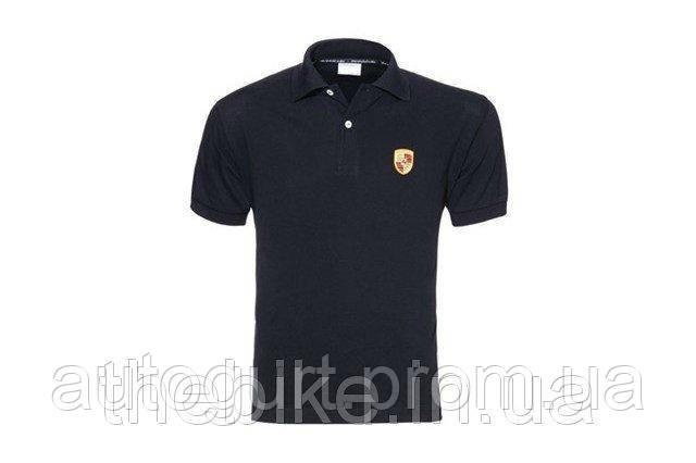 Мужская футболка поло Porsche Men's Polo Shirt Logo Black