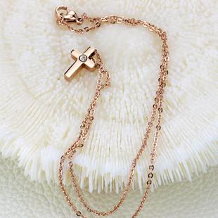 Кулон в форме крестика позолоченный, фото 1