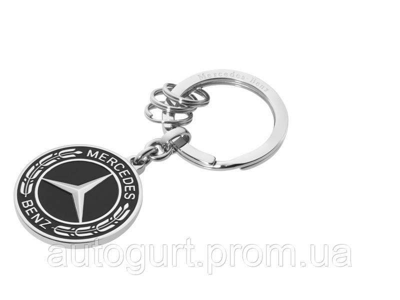 Брелок Mercedes-Benz Key Ring, Untertürkheim Stainless Steel, Black/Silver