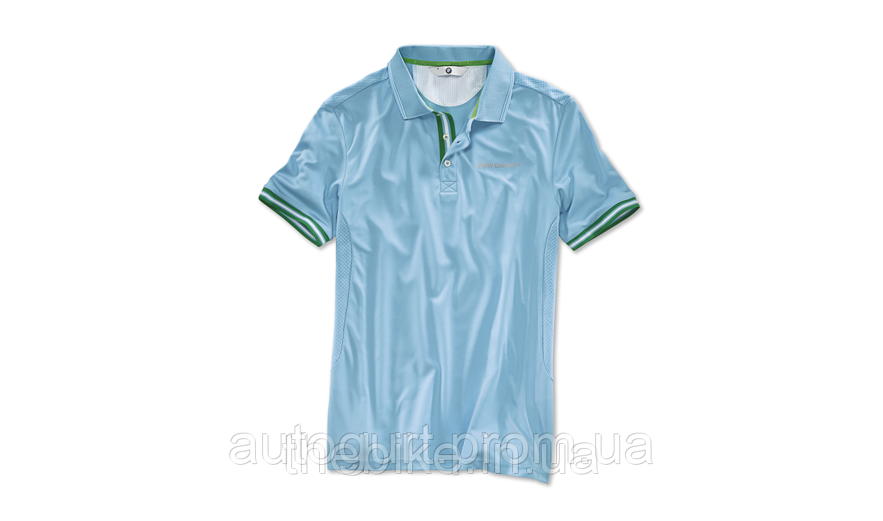 Мужская футболка-поло BMW Golfsport Polo Shirt Aqua