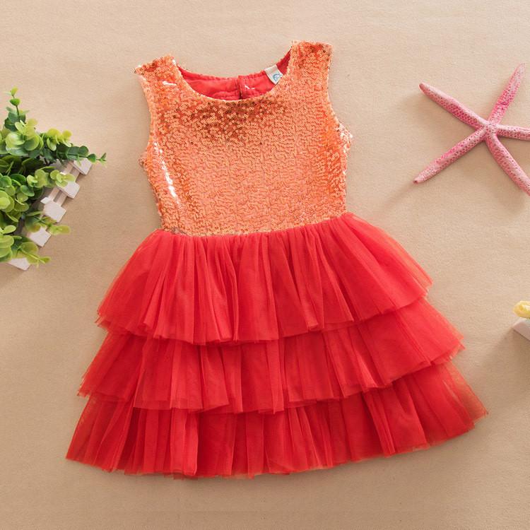 Платье с пайетками (красн)  90,100