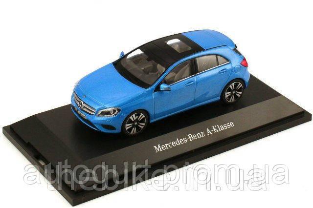 Модель автомобиля Mercedes-Benz A-Class (W176) Blue 2012, Scale 1:43