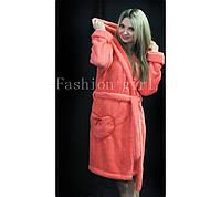 Женский махровый халат для дома Коралл, 48-50
