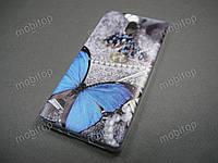Силиконовый TPU чехол Nokia 3 (Blue butterfly), фото 1
