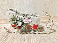 Новогодний декор санки, фото 1