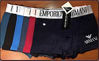 Трусы мужские боксеры хлопок с бамбуком Emporio Armani, ассорти, размер XL (48), 03218