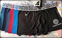 Трусы мужские боксеры хлопок с бамбуком Versace, ассорти, размер XL (48), 03226