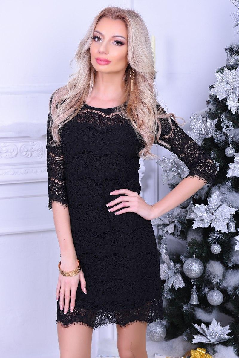 8c37d1effb1c14c Коктейльное платье из французского гипюра - Anta - оптовый интернет-магазин  в Одессе