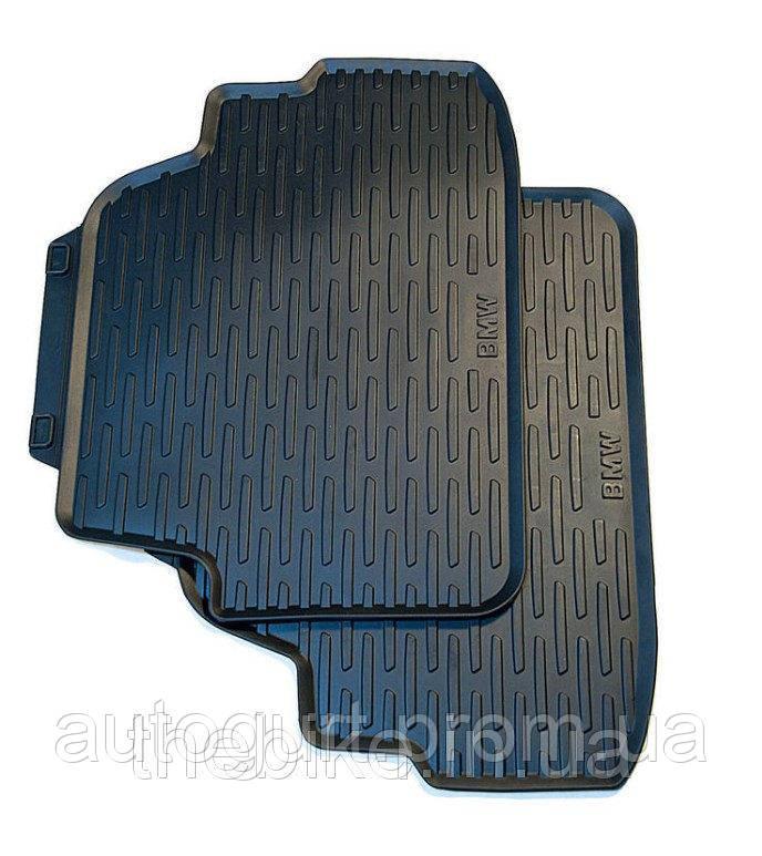 Коврики оригинальные задние для BMW 1 (E88) черные резиновые