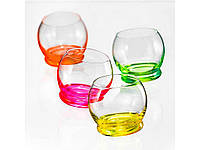 "267242. Набір склянок для соку 4шт*390мл ""Crazy Neon"" 8042 ТМ""BOHEMIA"""