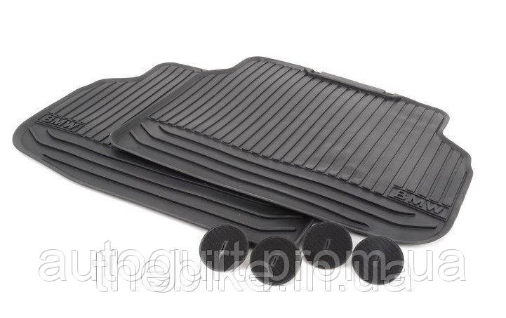 Коврики оригинальные задние для BMW 7 (F01) резиновые черные