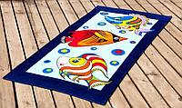Велюровое полотенце Lotus пляжное Fish 75*150