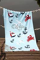 Велюровое полотенце Lotus пляжное Crabs 75*150