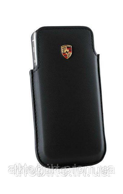 Кожаный чехол-футляр Porsche Case for iPhone 6 Black