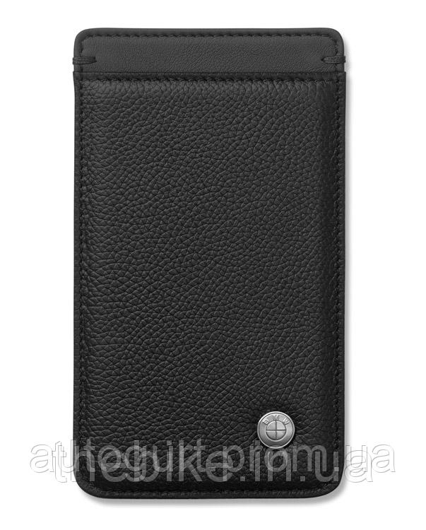 Универсальный кожаный чехол для смартфона BMW Iconic Universal Mobile Phone Case Black