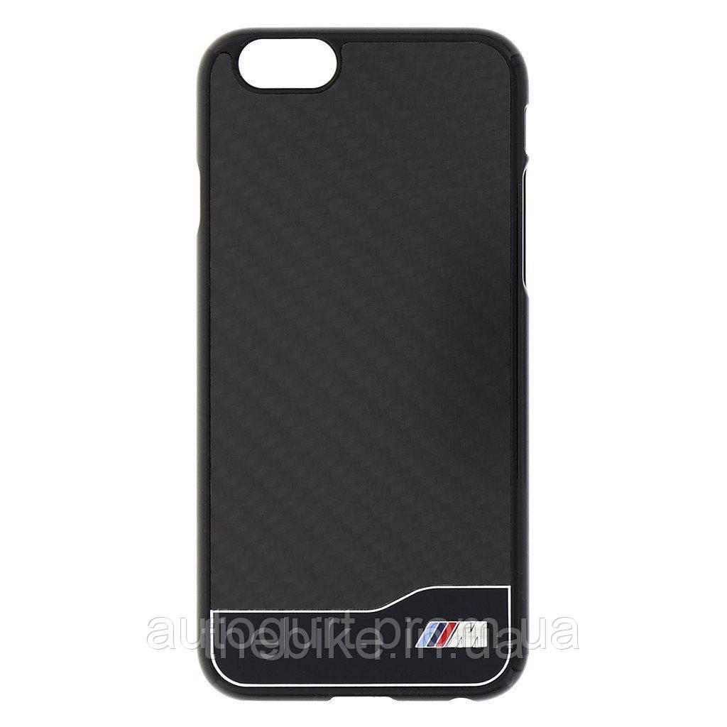 Крышка BMW для iPhone 6 M-Collection Carbon & Aluminium Finish, чёрный