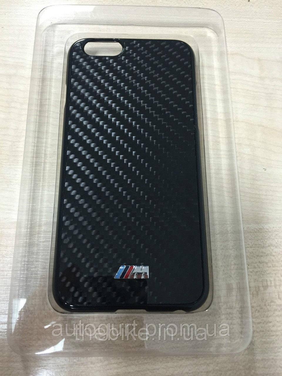 Карбоновый чехол BMW M для iPhone 6 Plus, Hard Case, Black