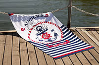 Велюровое полотенце Lotus пляжное Full ahead 75*150