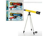 """286602. Телескоп 6609A 53см, штатив 57см, 3 кольори, в кор-ці, 62-22-8см ТМ""""KinderToys"""""""