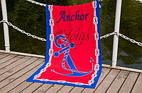Велюровое полотенце Lotus пляжное Mooring 75*150